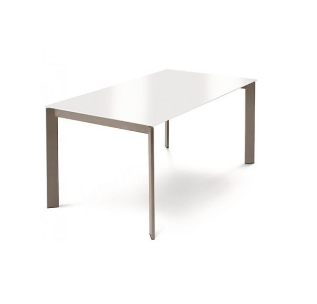 Contemporary Dining Table Wooden Metal Melamine Glam 130