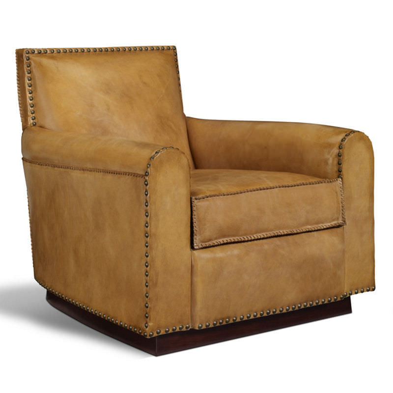 Traditional Lounge Chair / Leather / Club   COLORADO