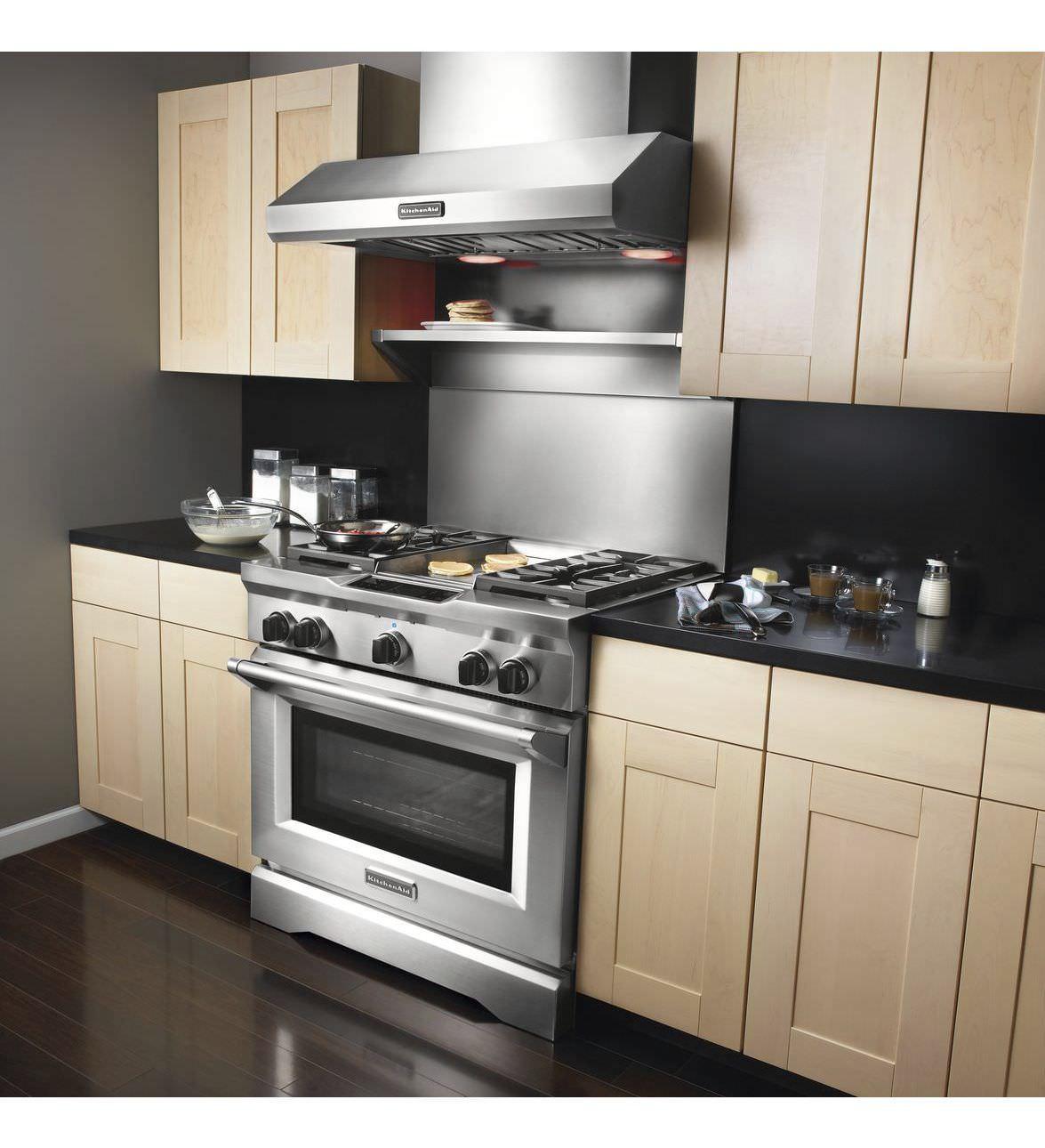 Gas range cooker / electric / dual-fuel - KDRU763VSS - KitchenAid