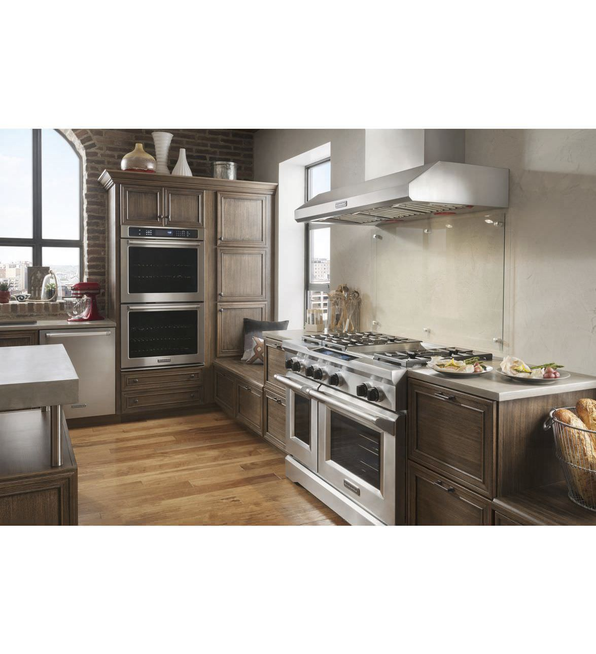 Charming Wall Mounted Range Hood / With Built In Lighting KXW9748YSS KitchenAid ...