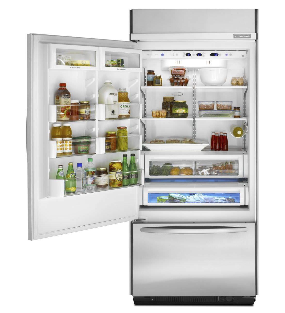 Energy Efficient Kitchen Appliances Residential Refrigerator Freezer Upright Stainless Steel