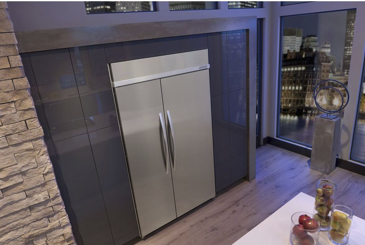 American refrigerator / stainless steel / built-in - KSSC48FTS ...