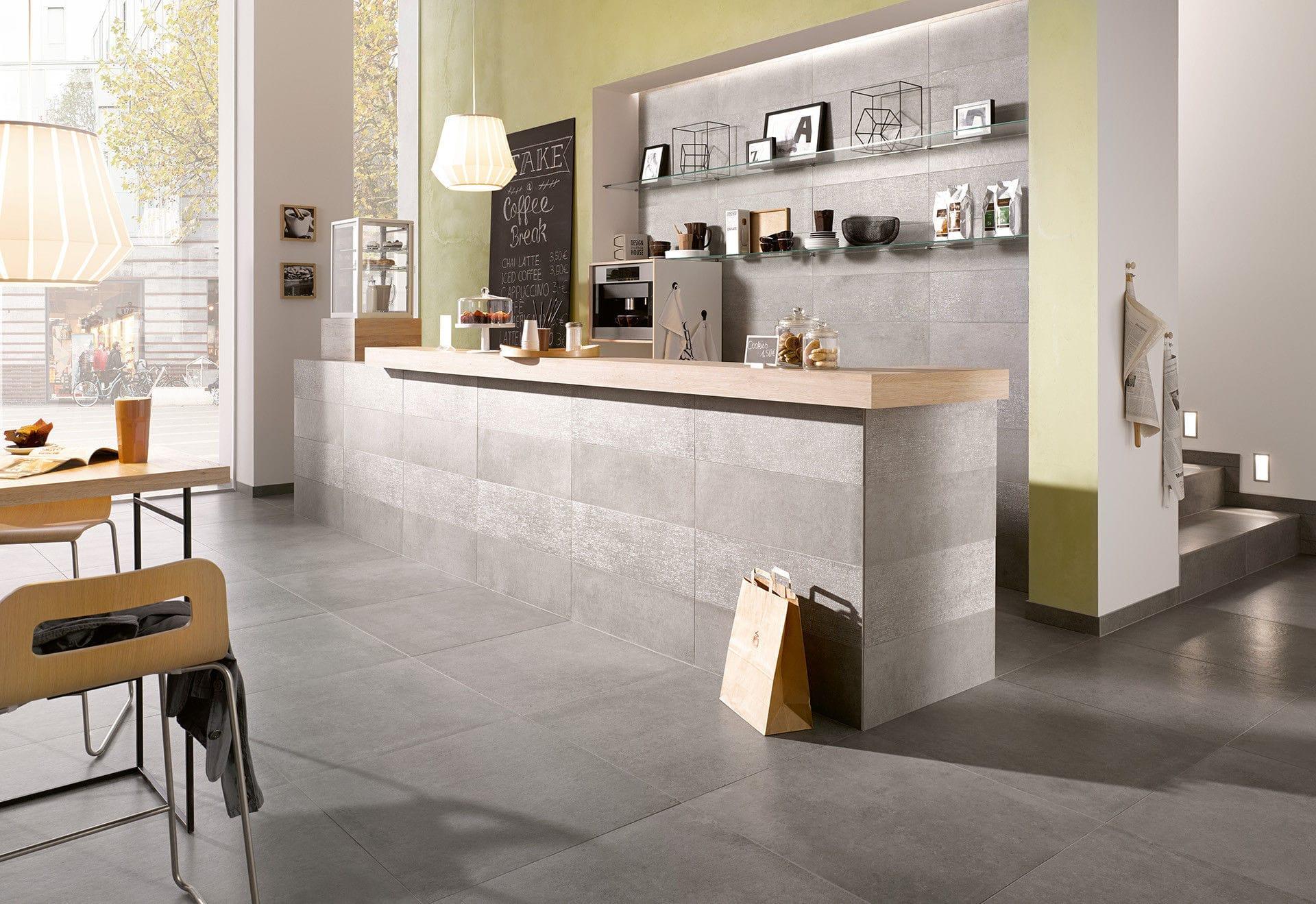 Indoor tile / living room / floor / wall - BETON - Steuler-Fliesen