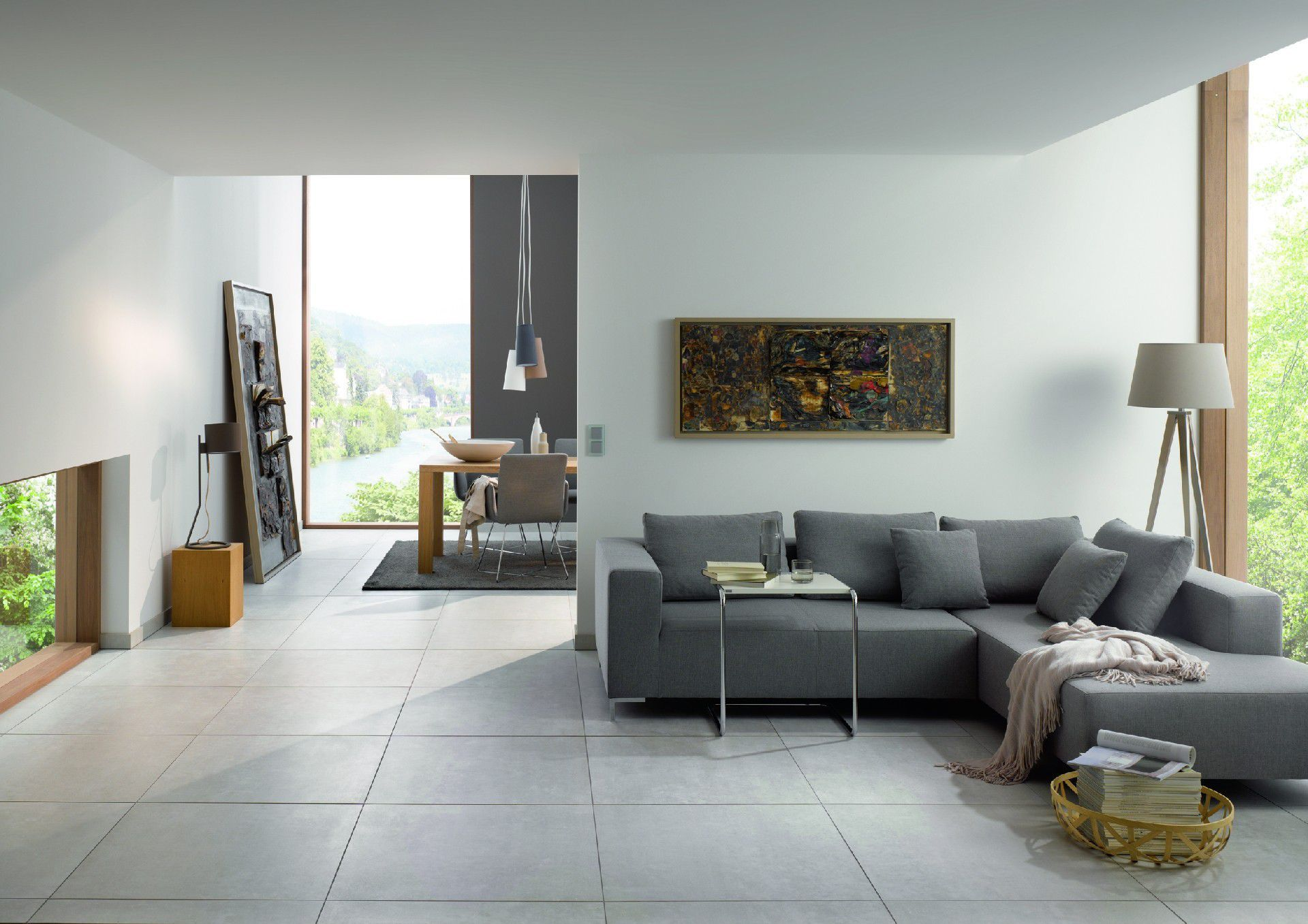 Indoor Tile / Living Room / Floor / Porcelain Stoneware ...