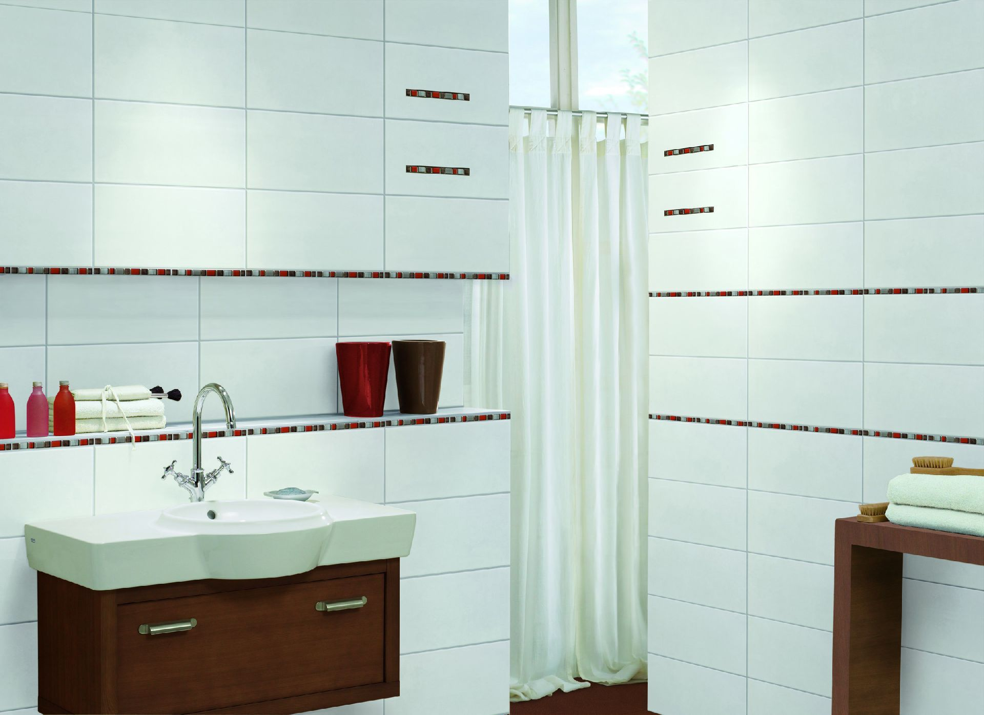 Indoor tile / bathroom / wall / sandstone - PURE WHITE - Steuler-Fliesen