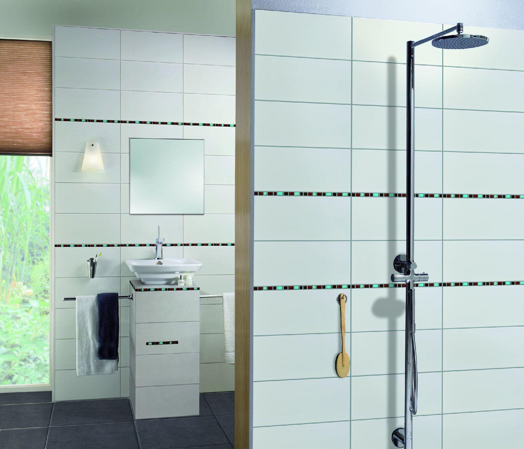 Relativ Indoor tile / bathroom / wall / sandstone - PURE WHITE - Steuler  UD96