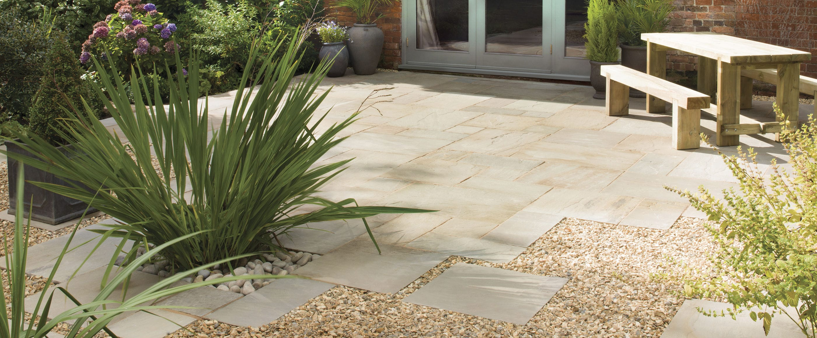 Natural Stone Paving Slab Textured For Public Spaces Outdoor