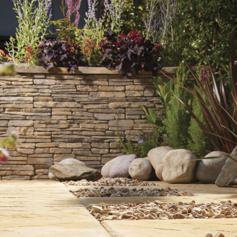 Garden edge / concrete / engineered stone / high - MADOC - BRADSTONE ...
