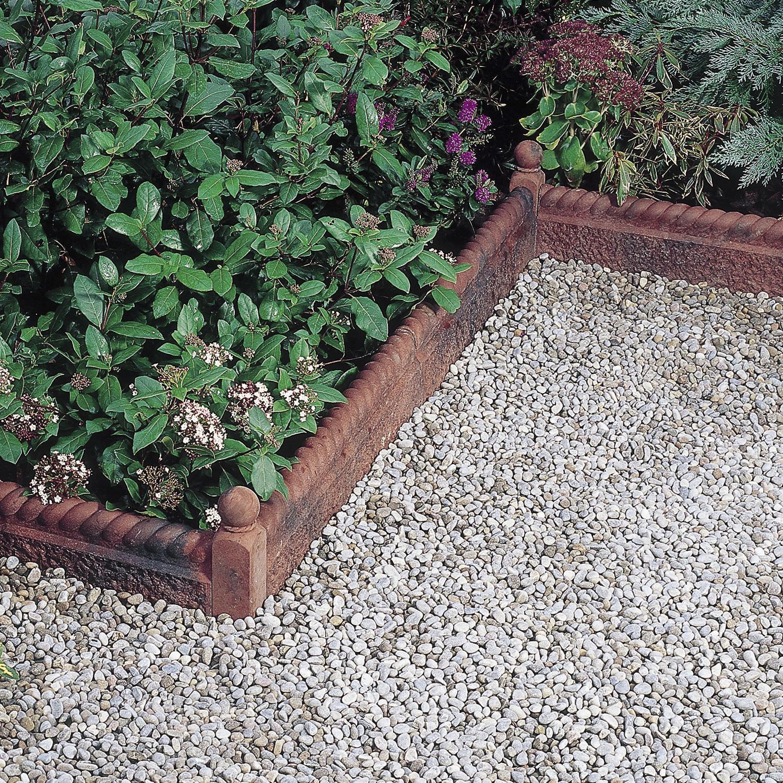 Garden Edging / Concrete / Engineered Stone   RUSTIC ROPE TOP