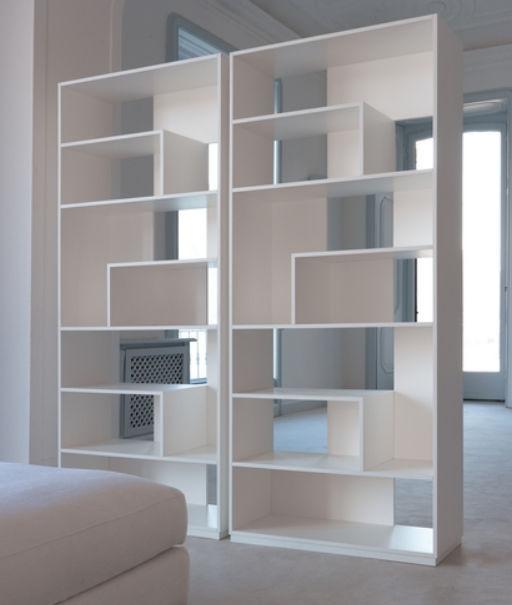 Modular bookcase room divider contemporary wooden 9700
