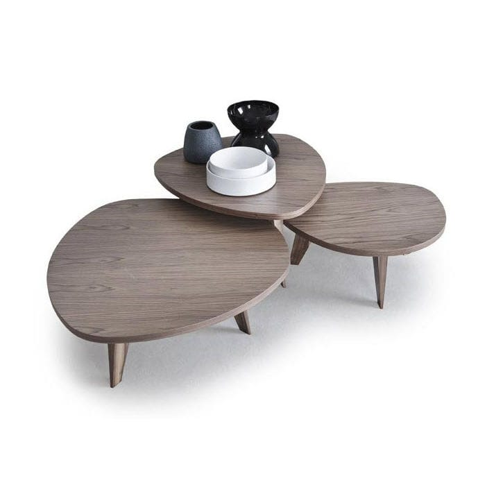 Contemporary Coffee Table / Walnut / Modular   9500   40, 41, 42 By  Gianluigi Landoni