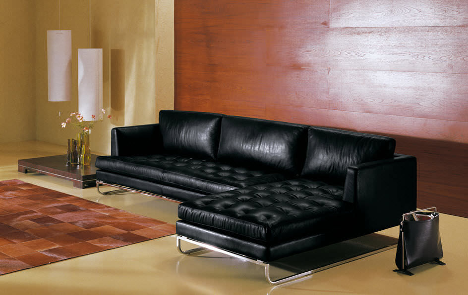Modular Sofa Contemporary Leather 3 Seater Avenue Square By Giuseppe Bavuso