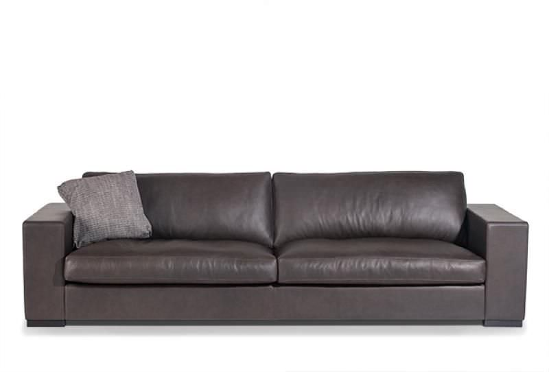 Contemporary sofa / leather / 2-seater / beige - SUPEROTTO by ...