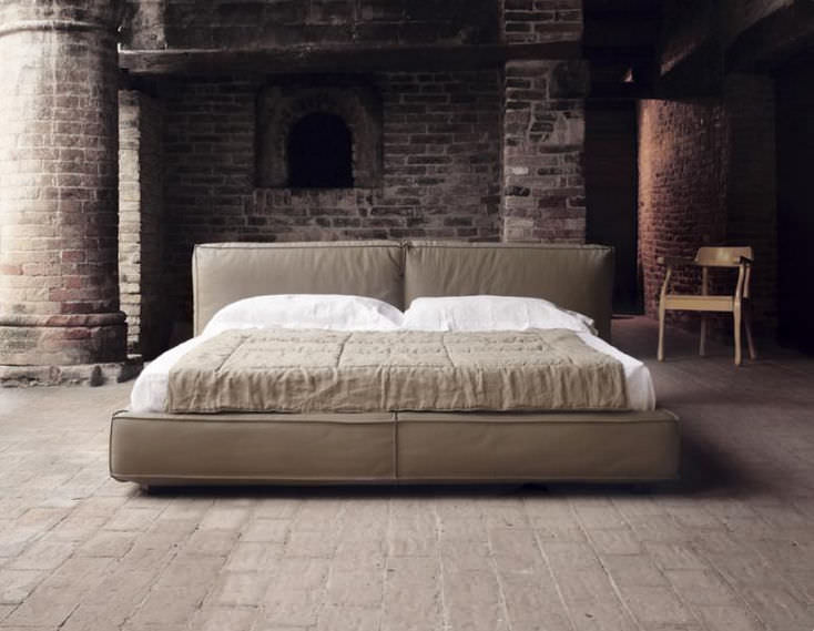 Double bed / contemporary / upholstered / fabric - MONIQUE ...