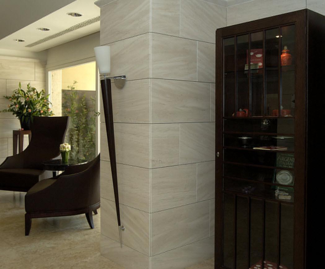 contemporary wall light / metal / glass / wooden - phenix