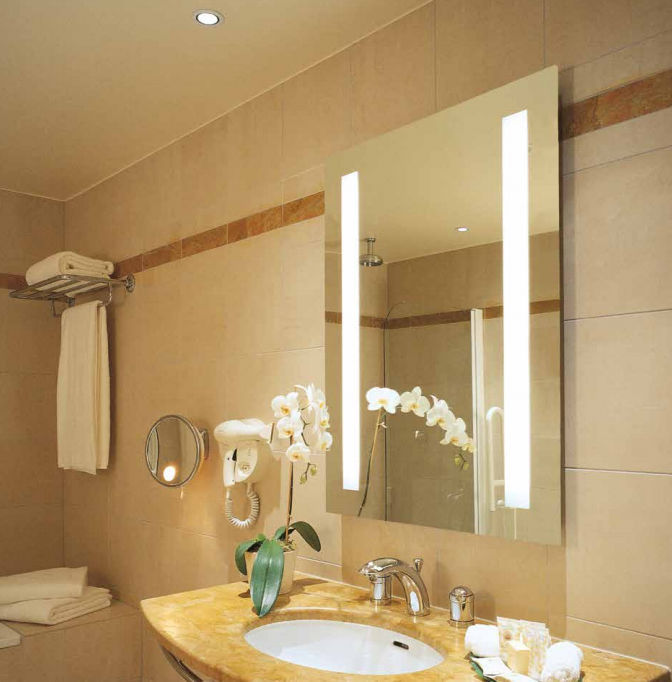 Wall Mounted Bathroom Mirror / LED Illuminated / Contemporary / Rectangular    MIRAGE : 1M1093 B