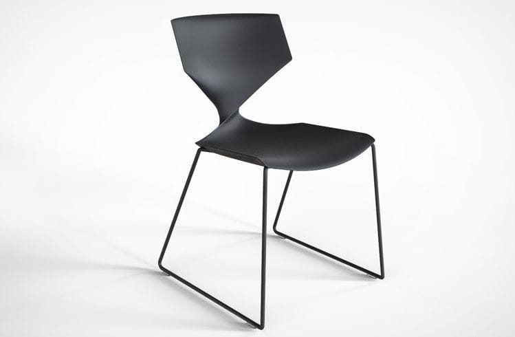 ... Contemporary Chair / Stackable / Sled Base / Steel ...