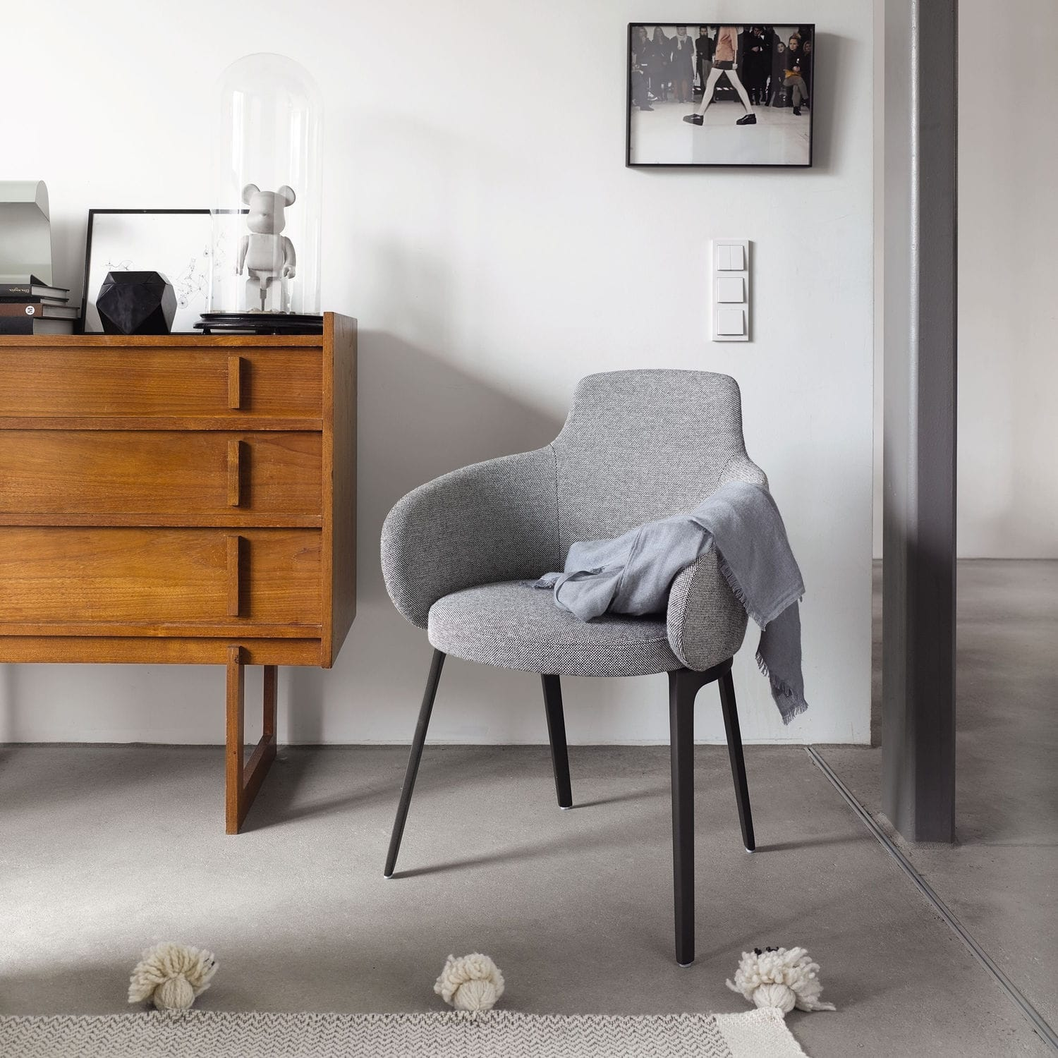 Contemporary Chair / Upholstered / With Armrests / Fabric   ROC By Uwe  Fischer