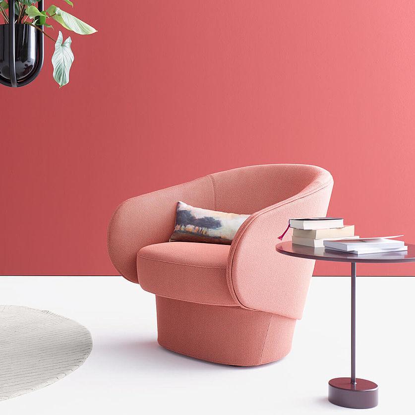 Contemporary Armchair Fabric Roc By Uwe Fischer Cor