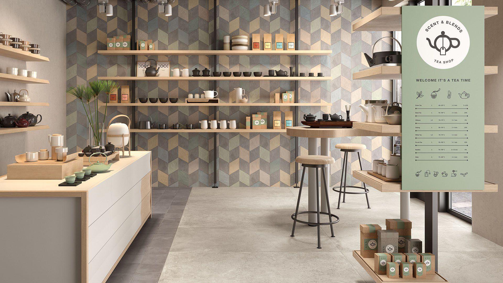 Indoor tile / wall / floor / porcelain stoneware - CHALK ...