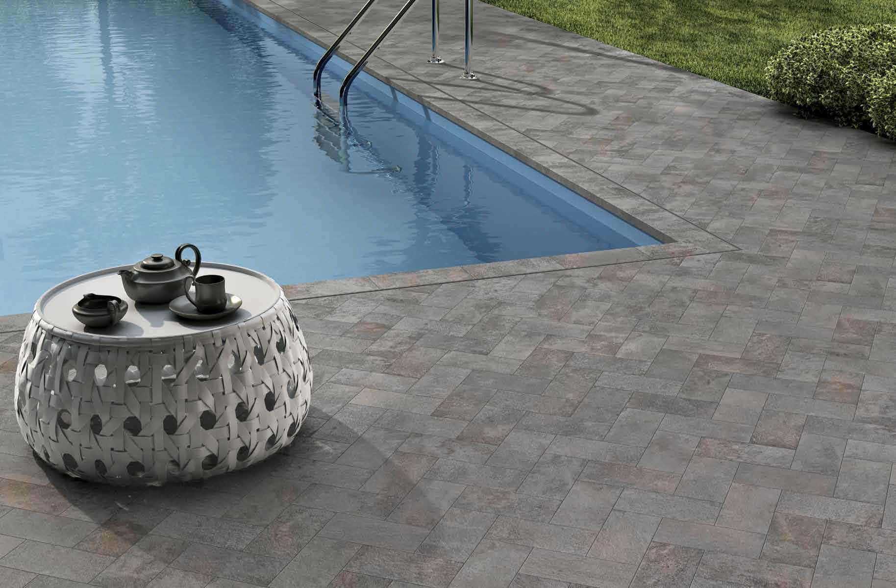 Outdoor tile / wall / floor / porcelain stoneware - GARDEN ...