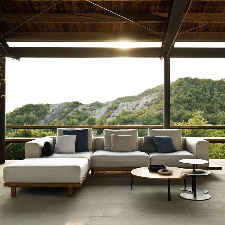 Modular sofa / corner / contemporary / garden - VIS A VIS by ...