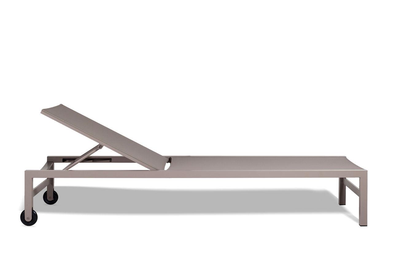 ... Contemporary Sun Lounger / Batyline® / Aluminum / Garden FORUM TRIBÙ ...