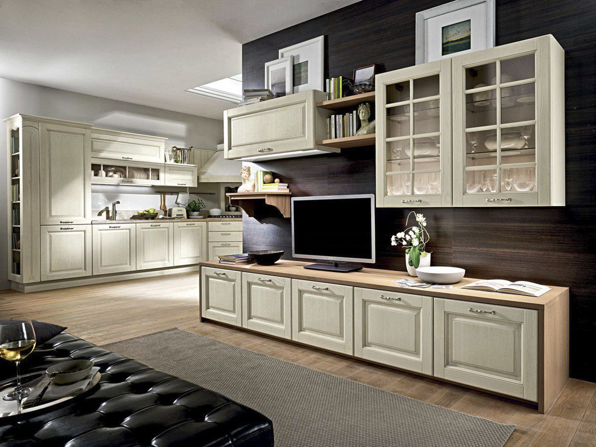 Traditional TV cabinet / wooden - BOLGHERI - STOSA CUCINE