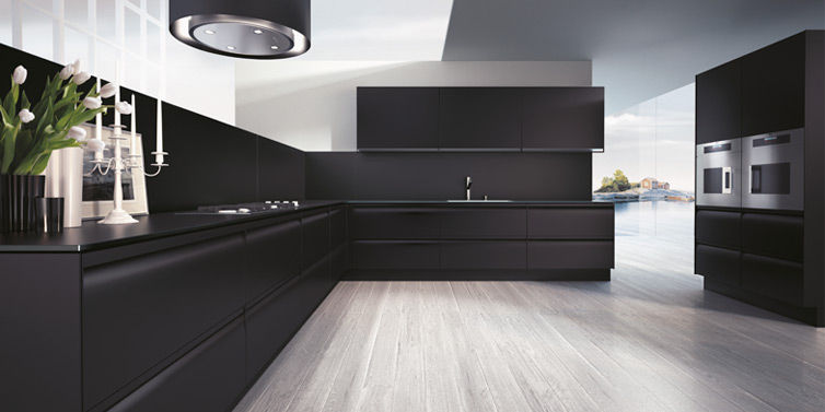 Contemporary kitchen / wooden / lacquered / matte - PLANA by Makio ...