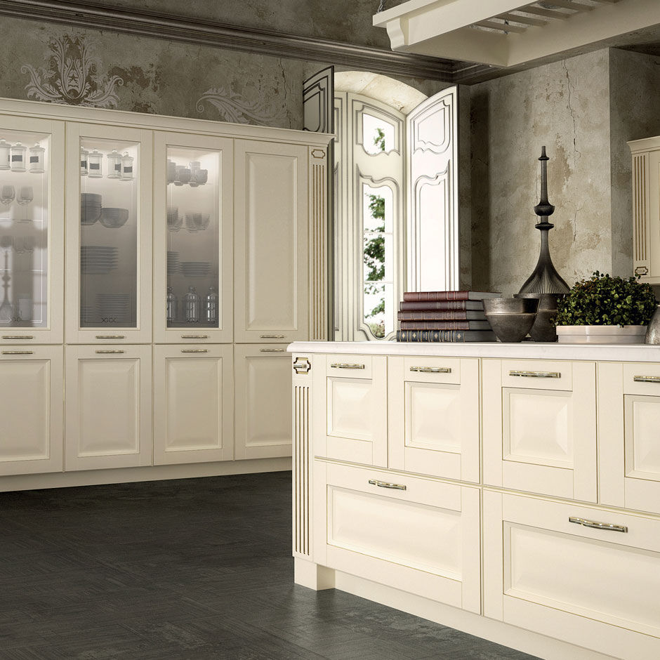 Traditional kitchen / marble / wooden / island - DERUTA by Centro ...