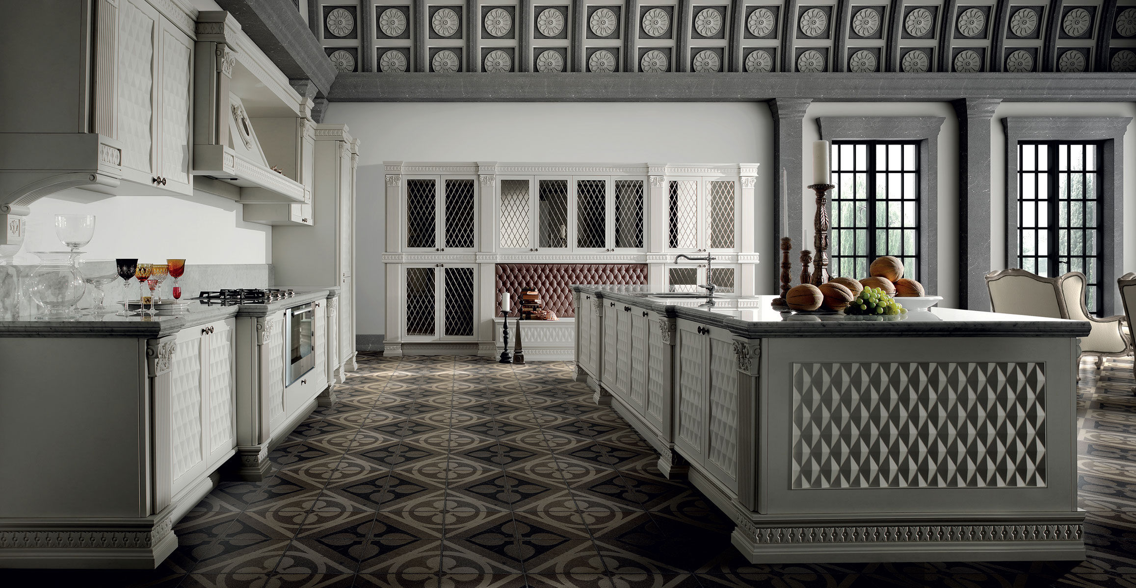 traditional kitchen / wooden / island / lacquered - medicea