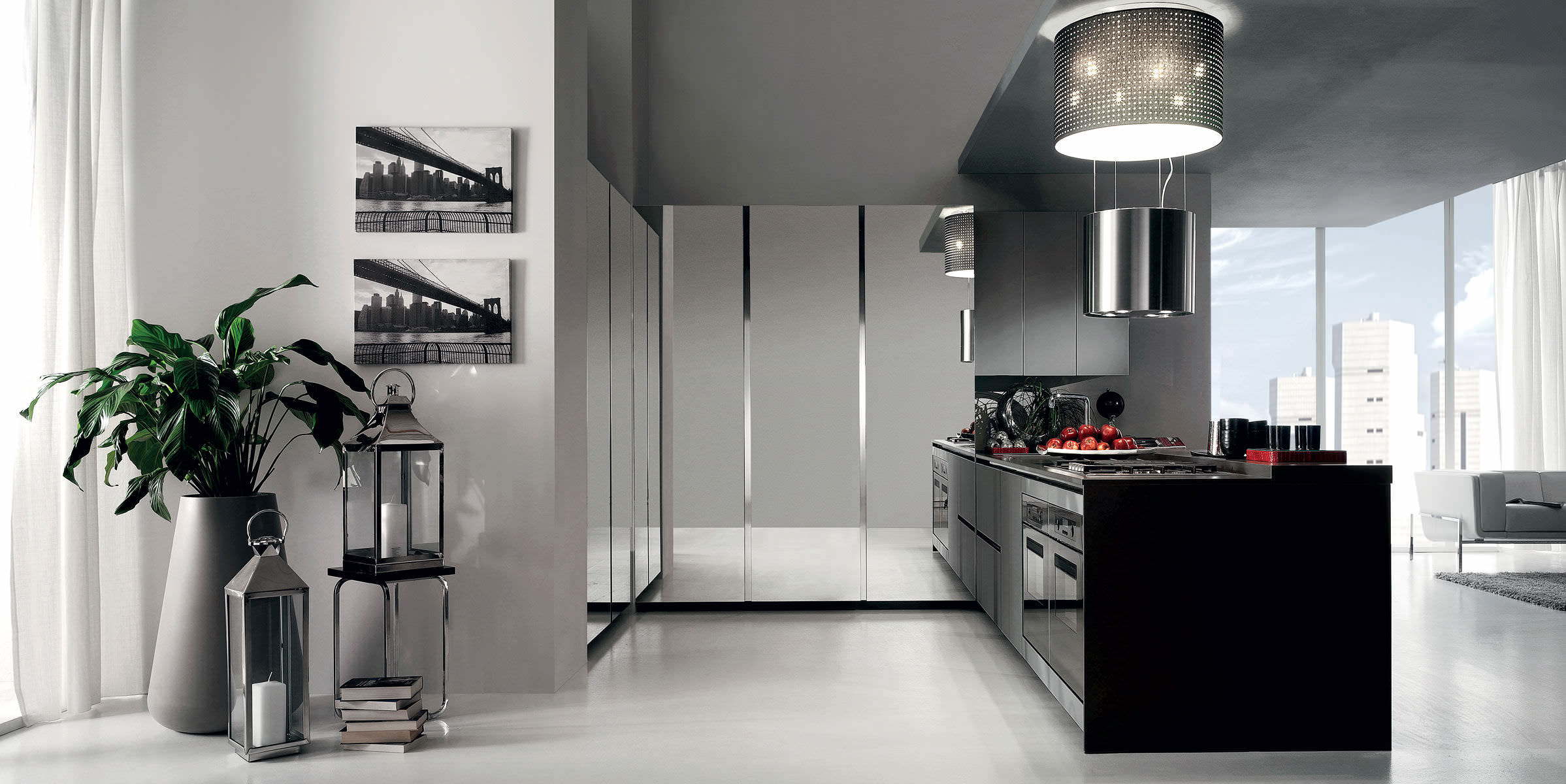 Contemporary kitchen / wooden / island / lacquered - CRETA FLUTE by ...