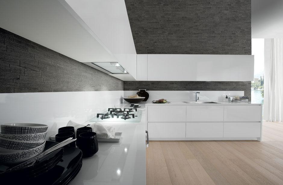 Contemporary kitchen / laminate / lacquered / high-gloss - CRETA ...