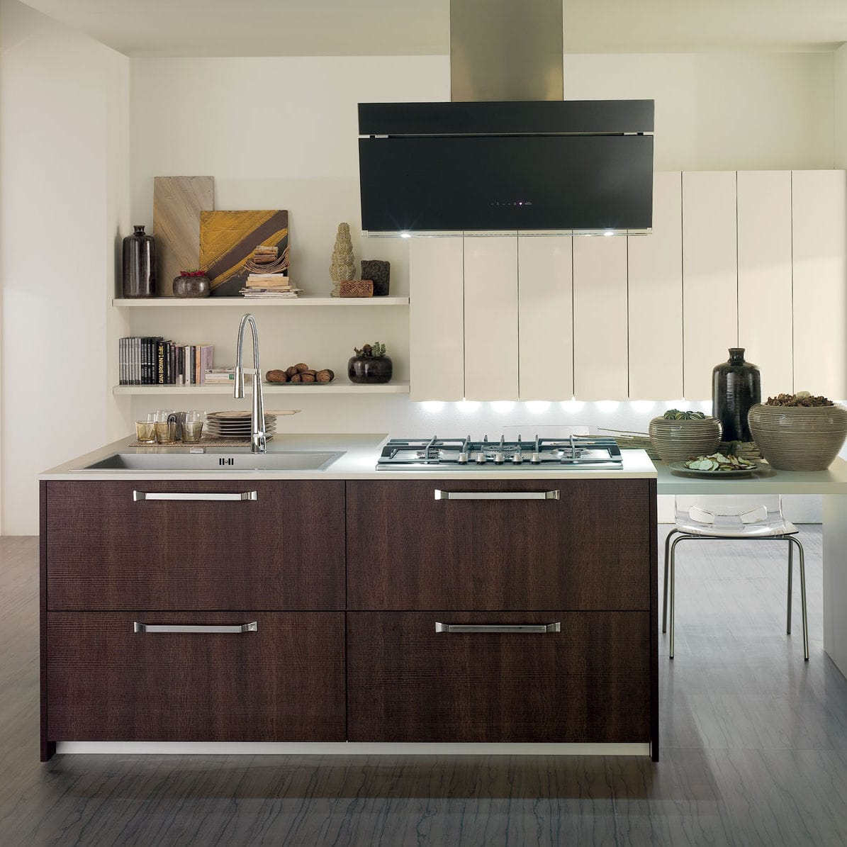 Wenge Wood Kitchen Cabinets Contemporary Kitchen Wenge Island Lacquered Maratea By
