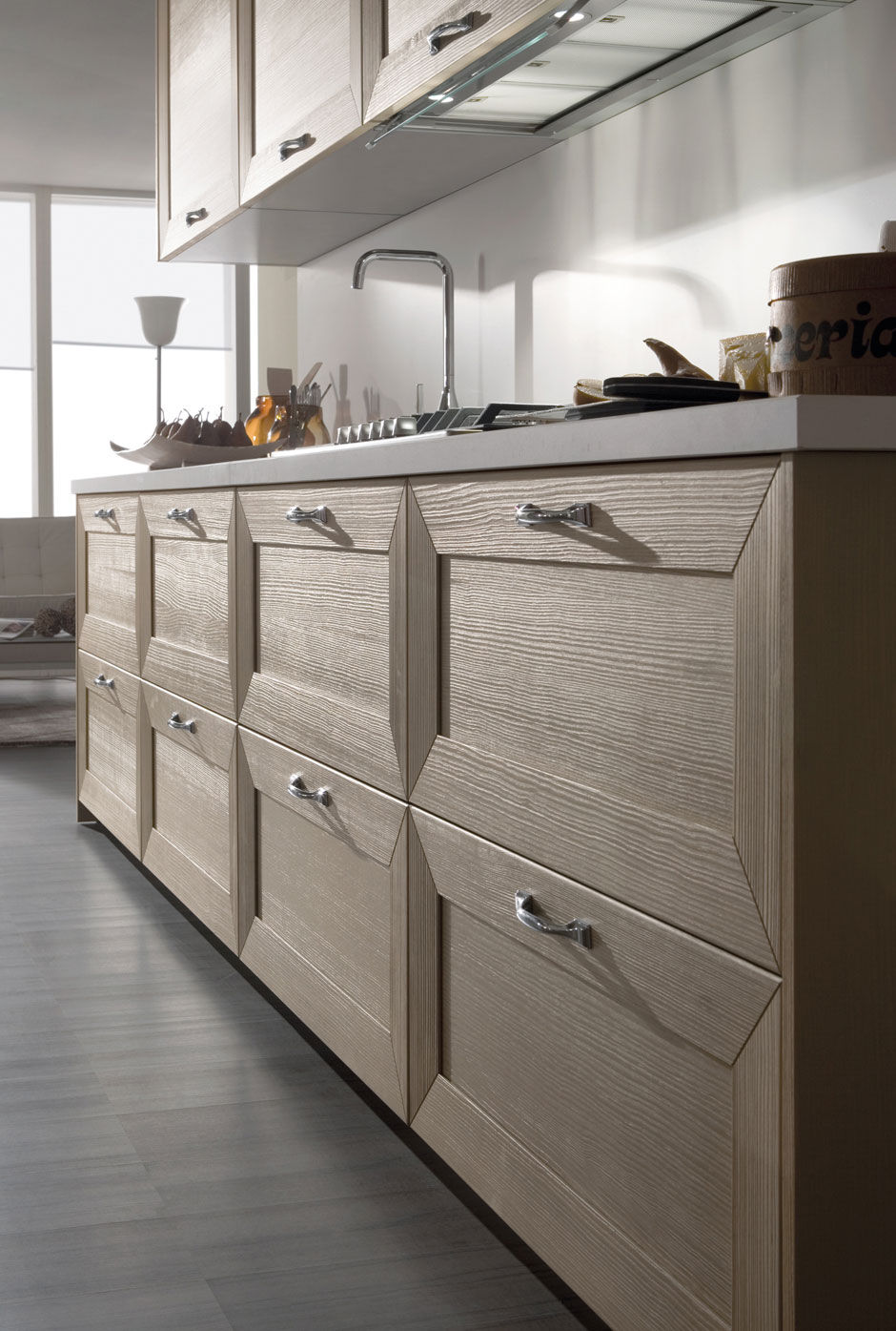 Contemporary kitchen / wood veneer / wooden - ISCHIA by Centro ...