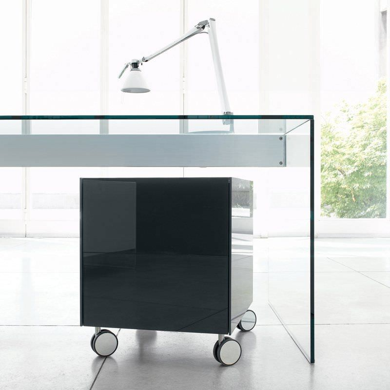 Lacquered Glass Office Unit / 2 Drawer / Original Design   AIR By Pinuccio  Borgonovo