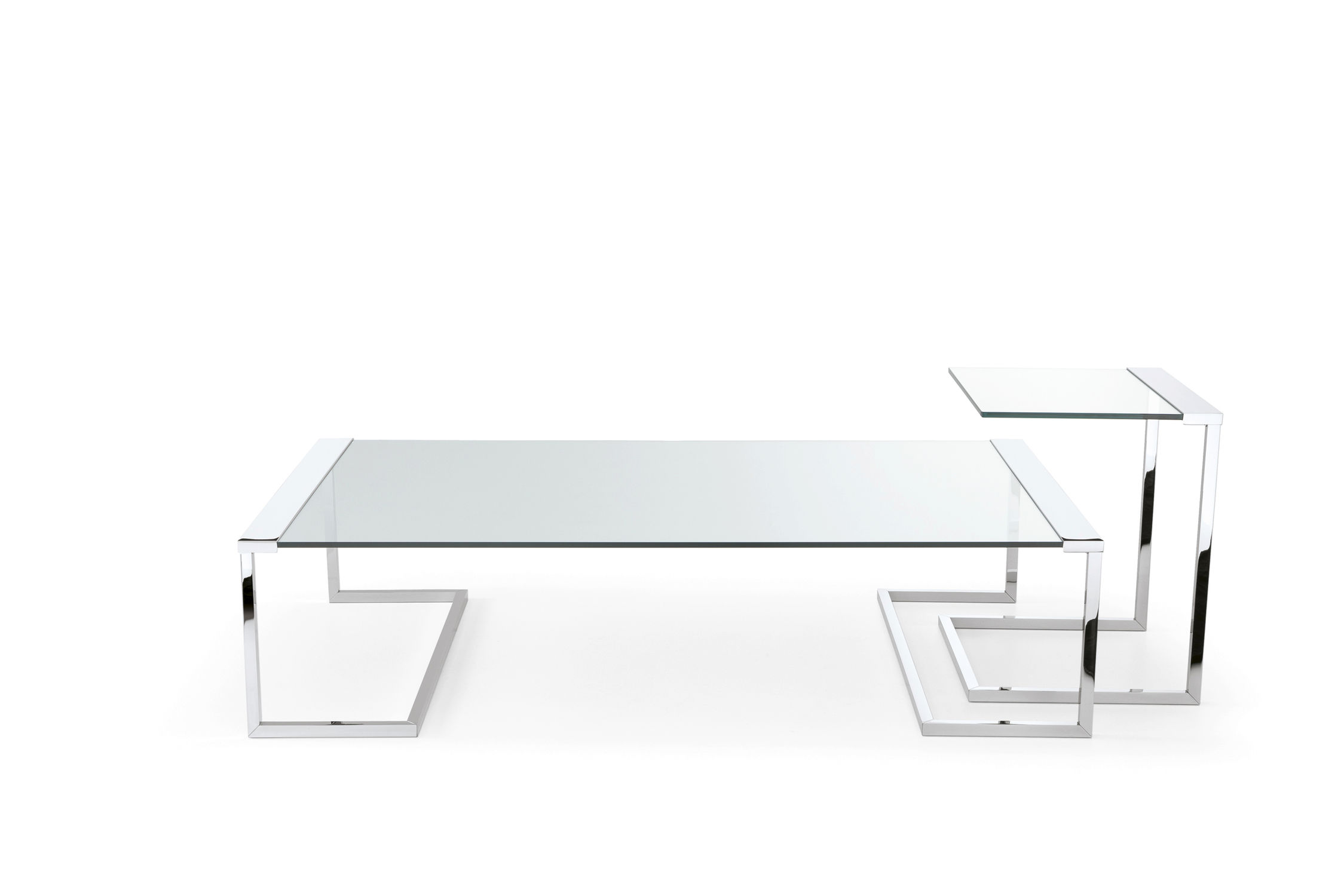 Contemporary Coffee Table / Metal / Tempered Glass / Rectangular   SIR T32  By Pierangelo Gallotti
