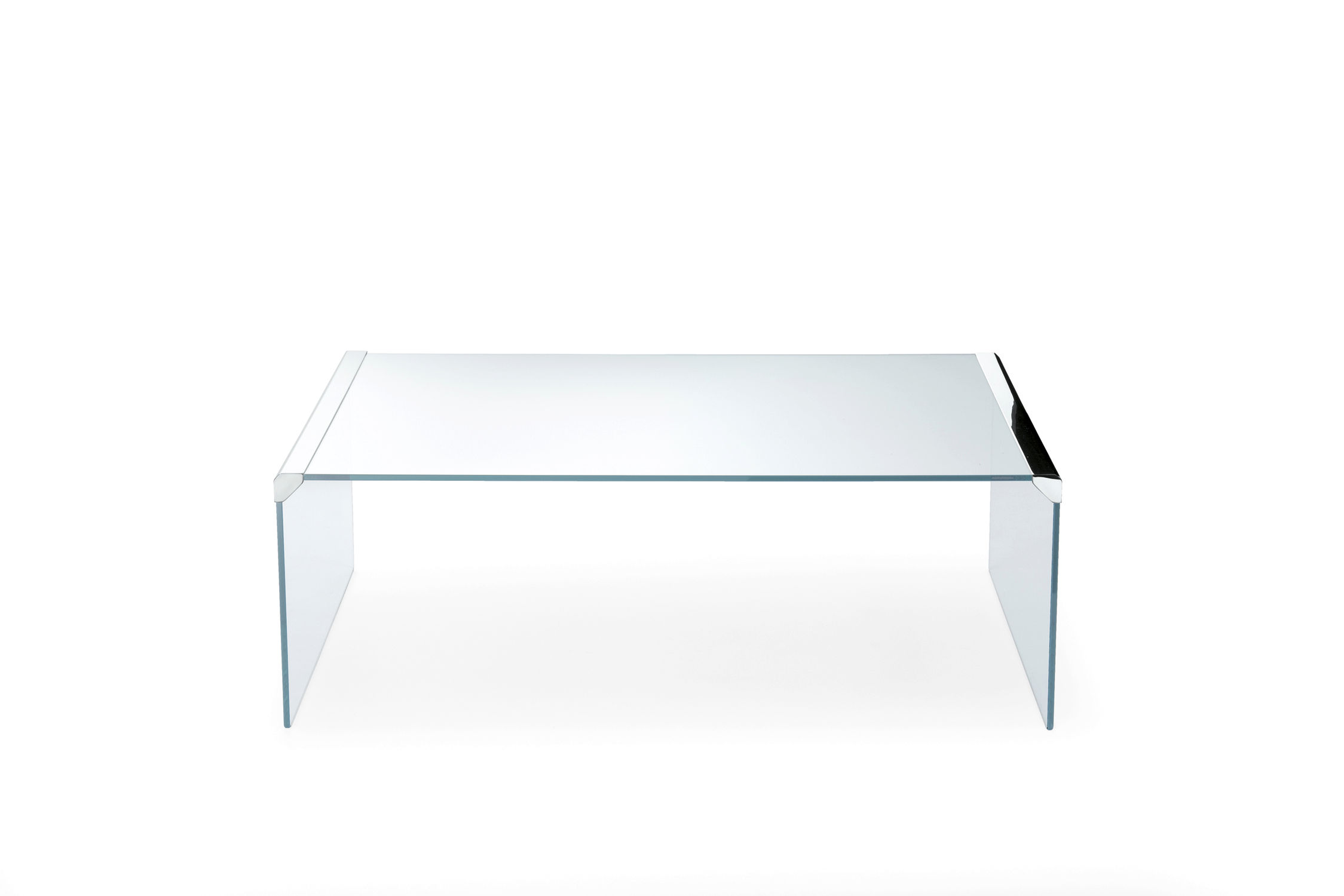Contemporary Coffee Table / Glass / Tempered Glass / Stainless Steel   T 33  By Pierangelo Gallotti