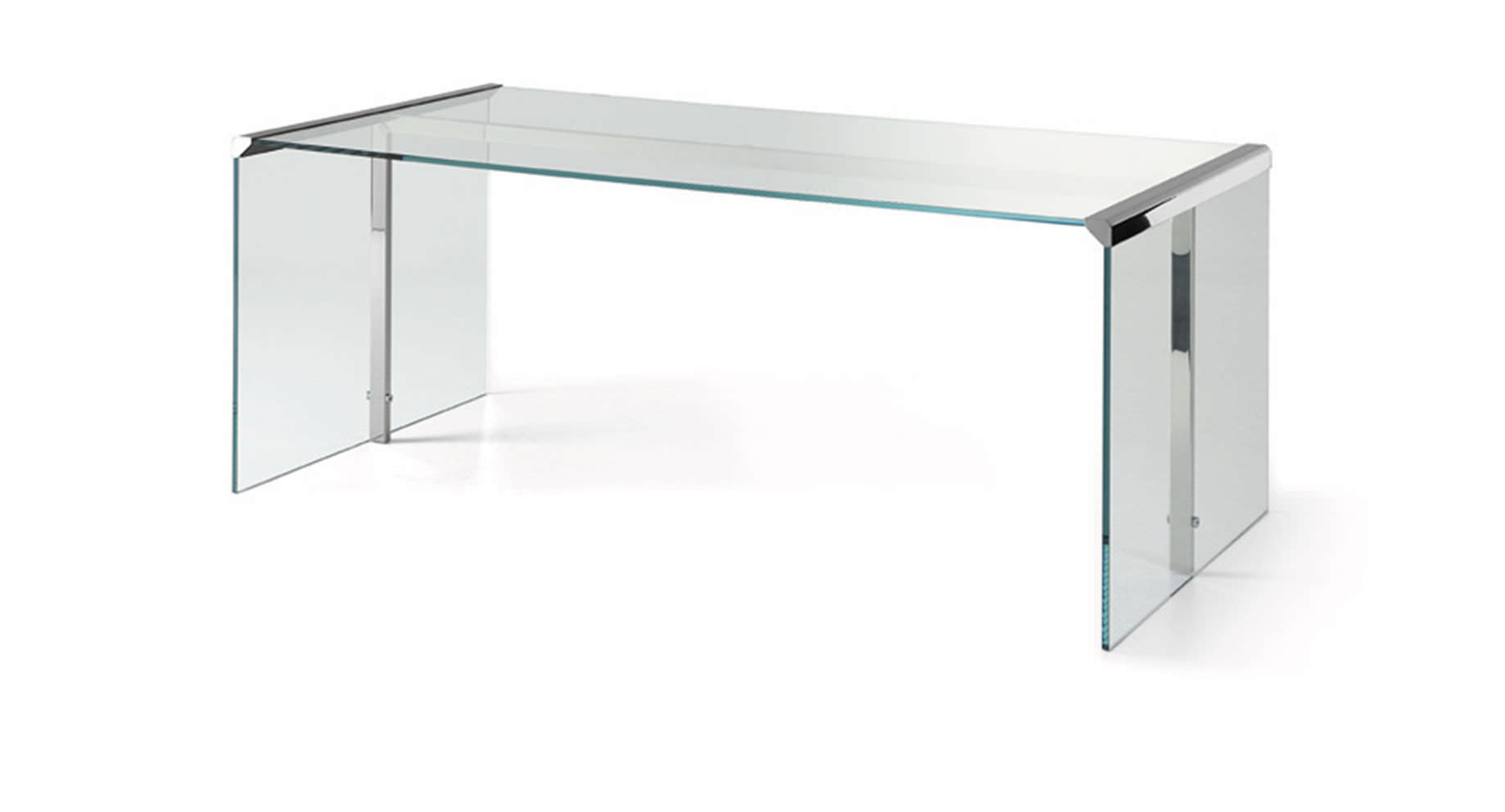 Multia Desk Stainless Steel Glass Contemporary President