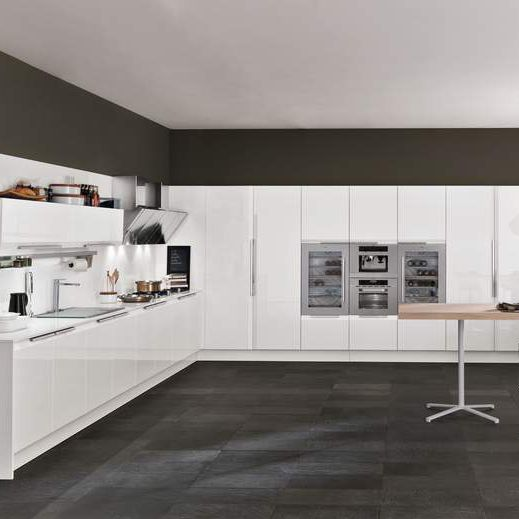 Contemporary kitchen / laminate / U-shaped / lacquered - CHANTAL by ...
