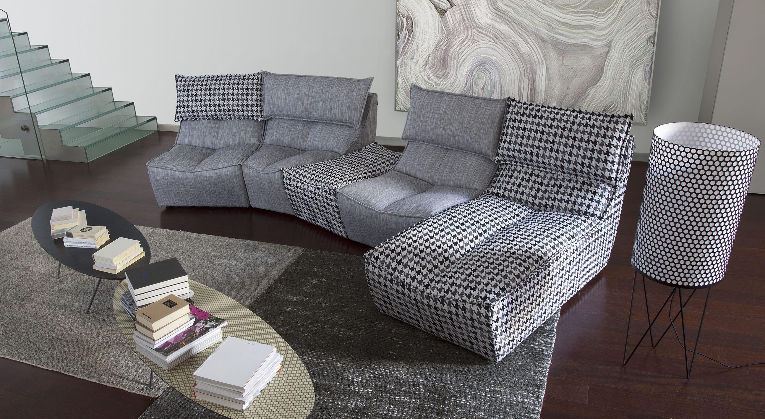 modular sofa / contemporary / fabric / 4-seater - hip hop
