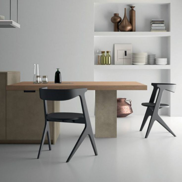 Contemporary dining table / elm / laminate / rectangular - STYLE ...