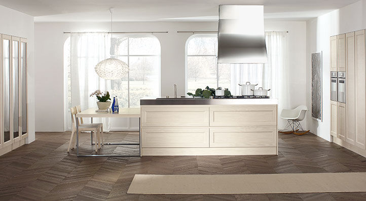 Contemporary kitchen / solid wood / island / matte - GLAMOUR ...