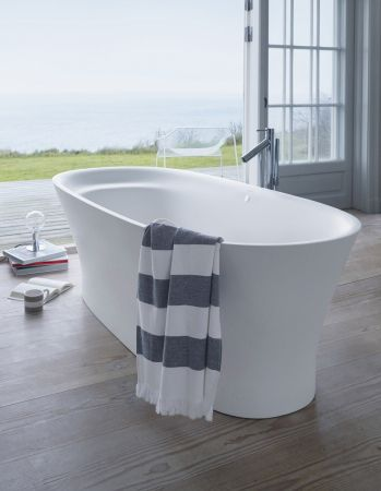 Free-standing bathtub / oval / by Philippe Starck - CAPE COD - DURAVIT