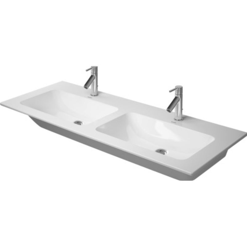 Double washbasin built in rectangular ceramic 233613 duravit double washbasin built in rectangular ceramic 233613 workwithnaturefo