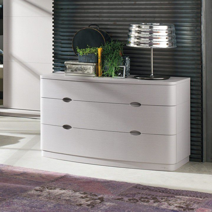 Contemporary chest of drawers / solid wood / white / black - SC05 ...