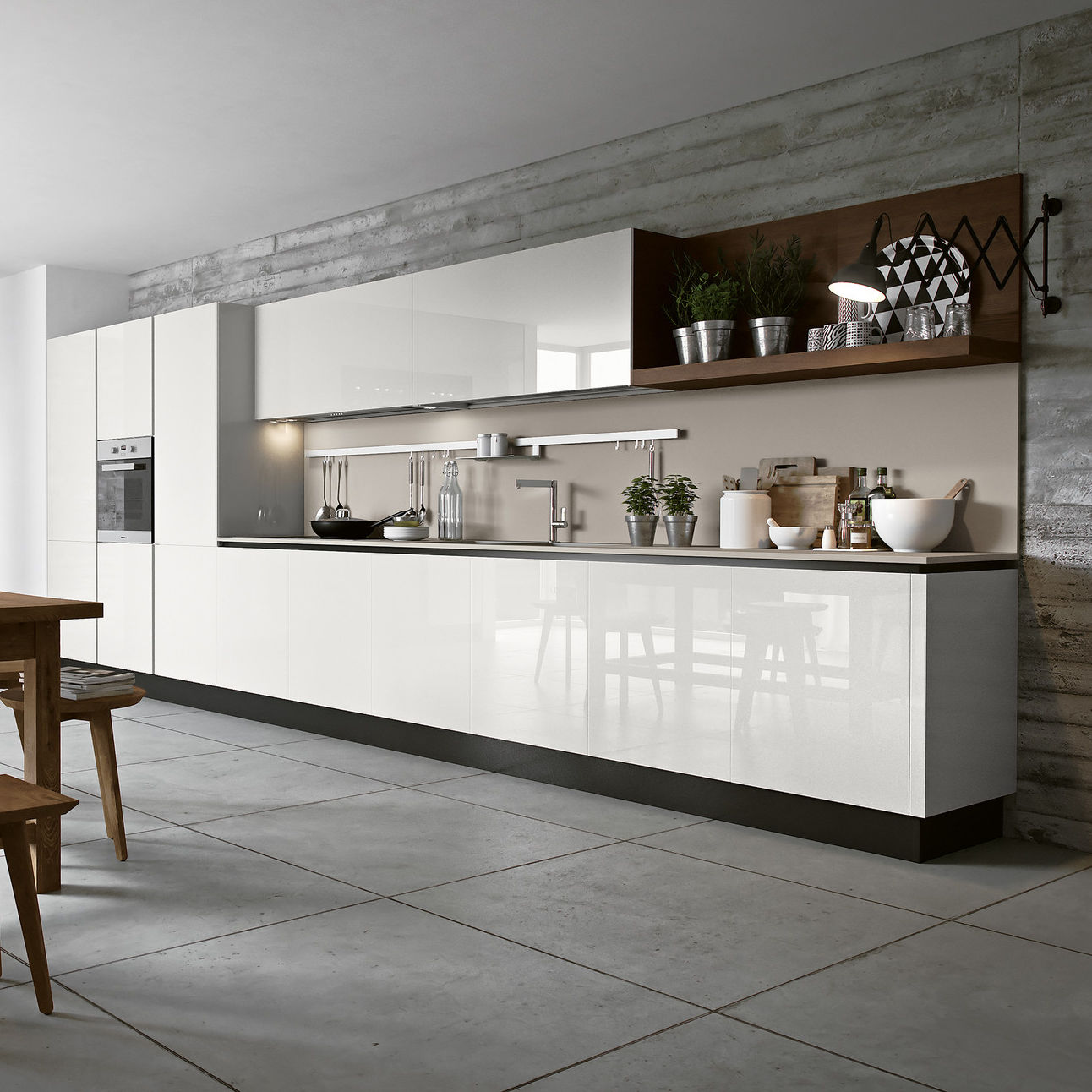 Contemporary Kitchen / Ash / Glass / Lacquered   NEW NICE 1.0