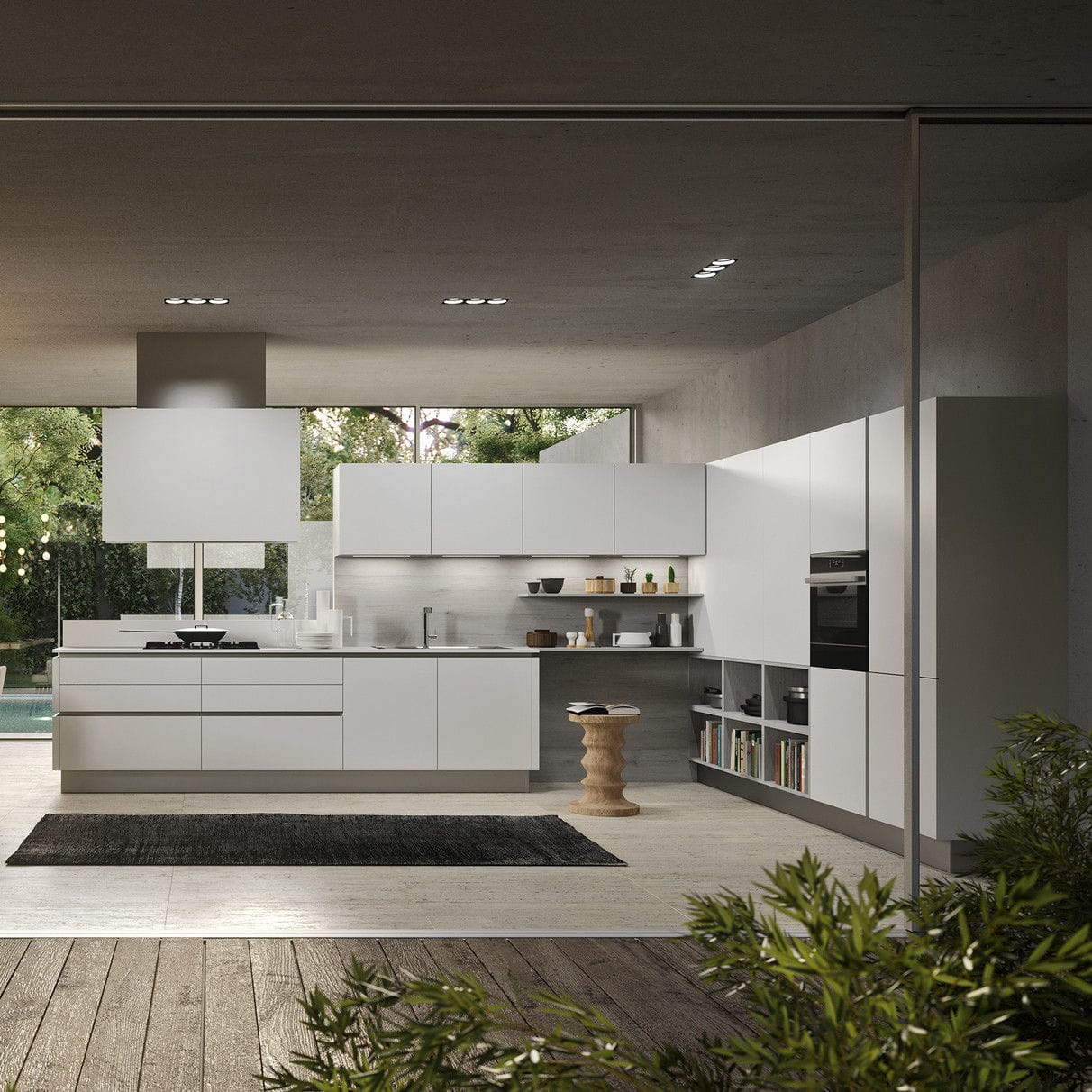 Contemporary kitchen / oak / lacquered wood / handleless - URBAN 4.0 ...