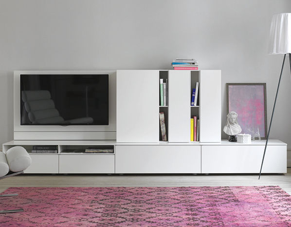 Excellent Beautiful Tv Wall Unit Lacquered Wood Lowboard By Werner  Aisslinger Cube Change Interlbke With Lowboard Tv With Hnge Tv Board