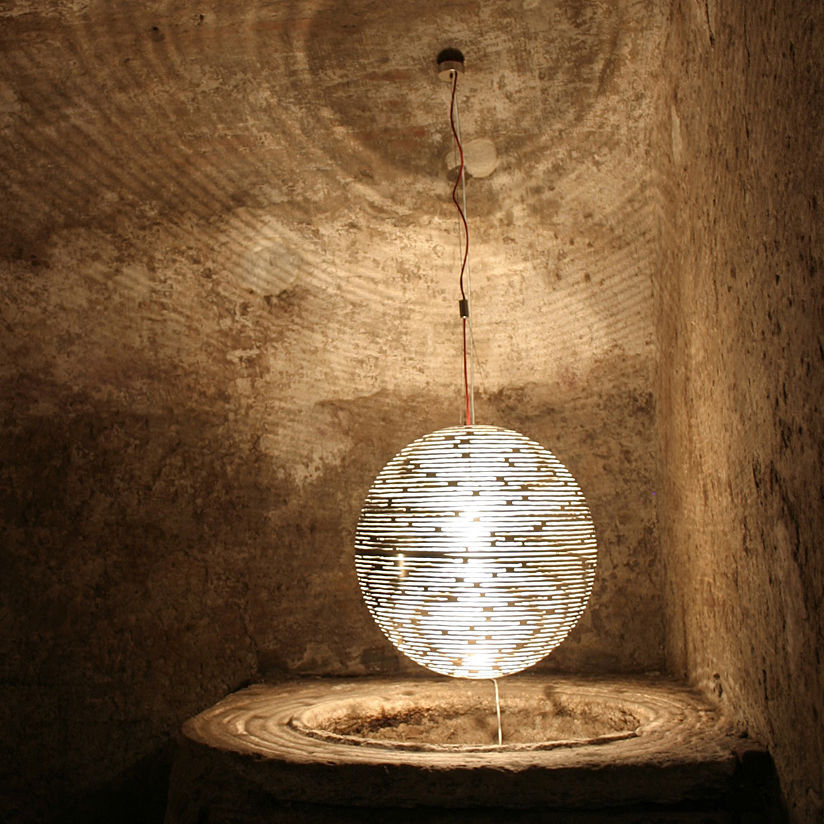Bruno Rainaldi Design.Pendant Lamp Original Design Metal Magdalena M61s By